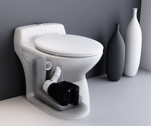 toilette avec SANIBROYEUR